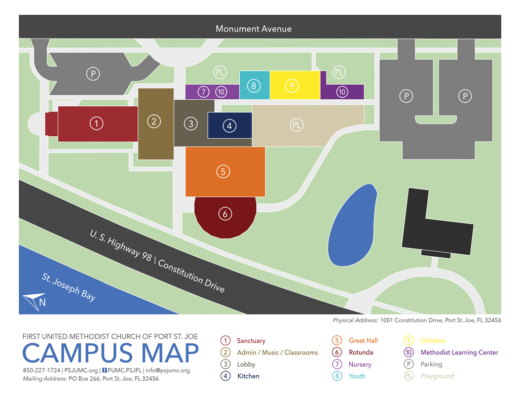 Umc Campus Map.Campus Map First United Methodist Church